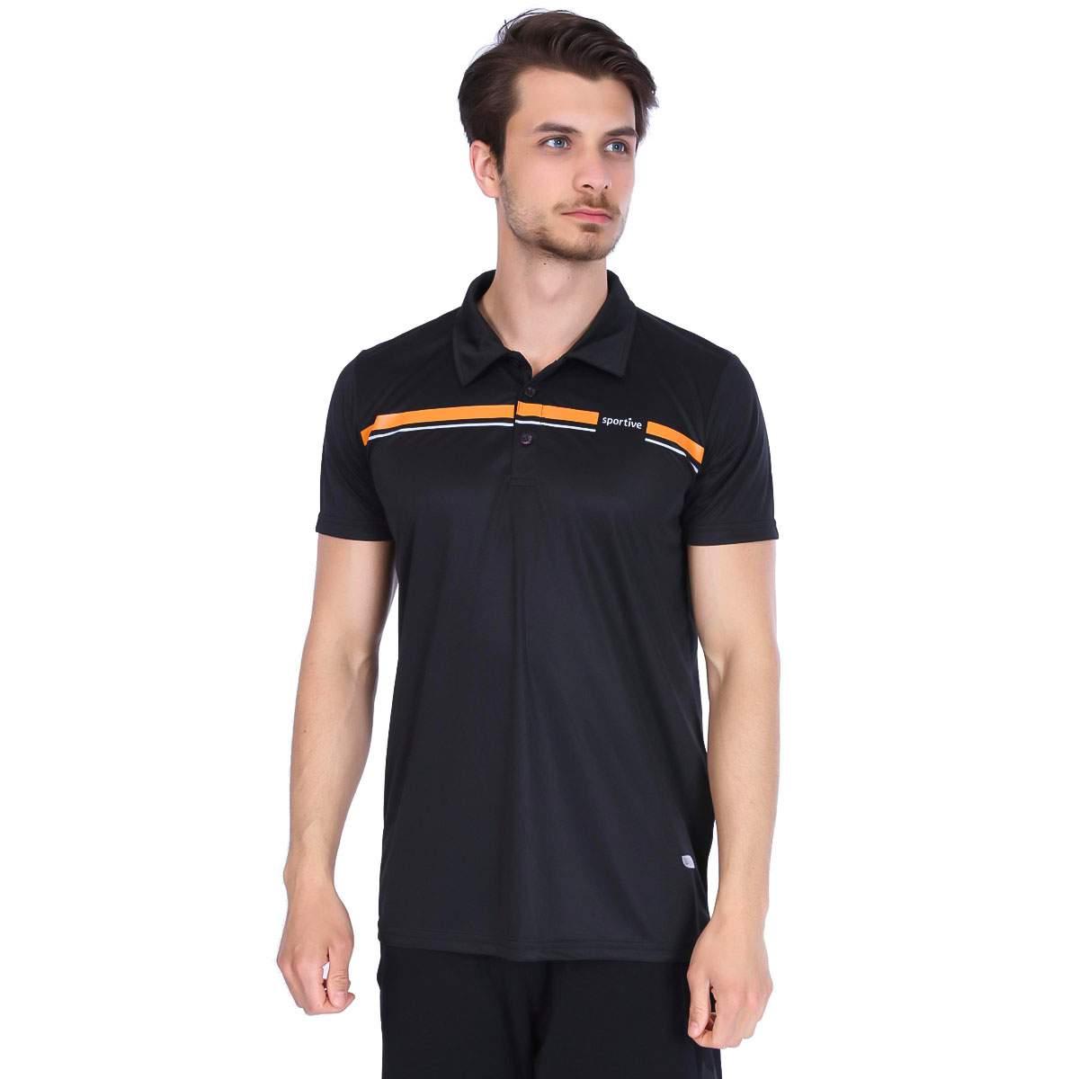 Sportive Erkek Polo Yaka Siyah Tişört 100886-00S