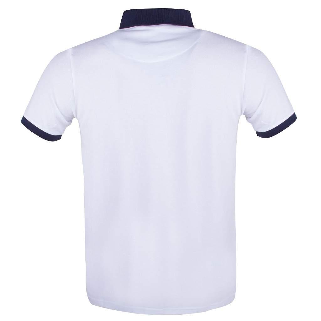 Exuma Erkek Beyaz Renkli Polo Yaka Tişört