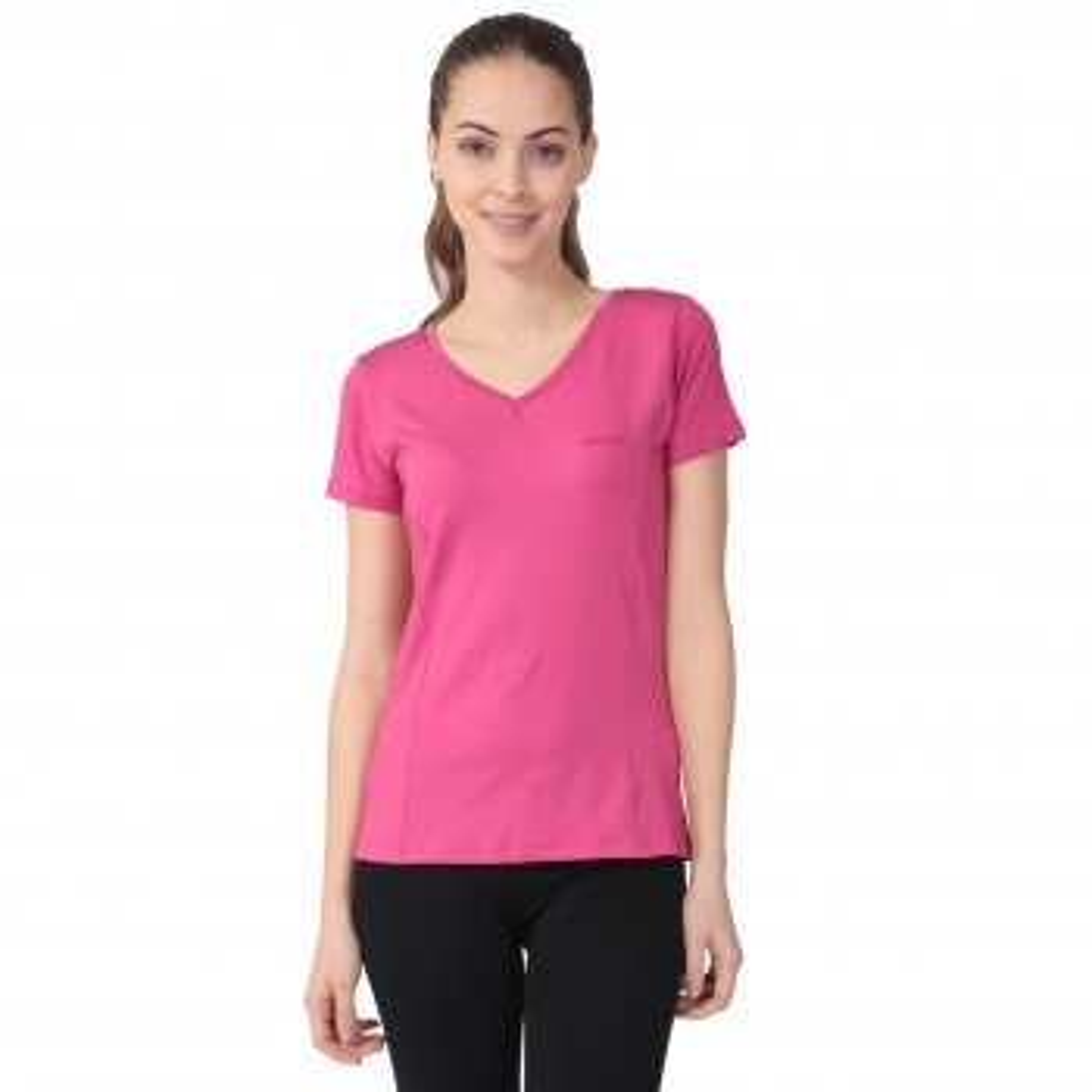 Sportive Polkestop V Yaka Kadın T-Shirt