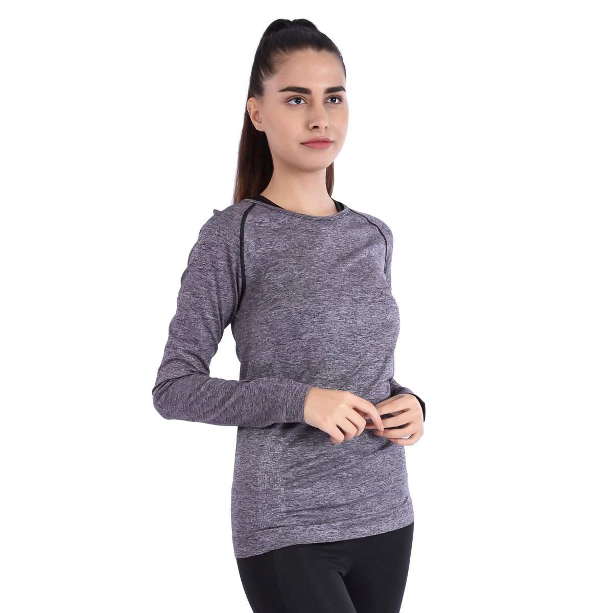 Sportive Seamelwom Kadın Günlük Stil Uzun Kollu Tişört