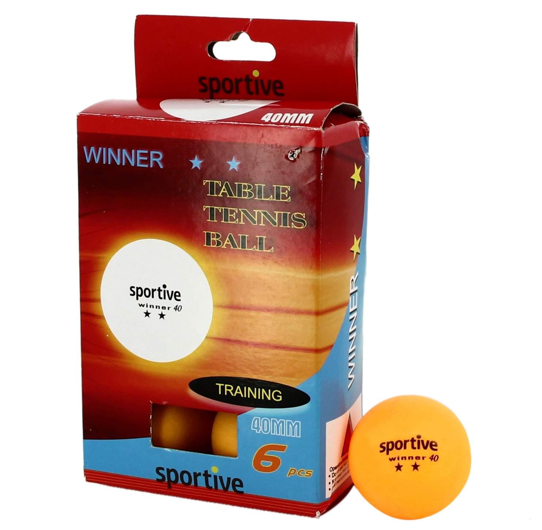 Sportive Winner Turuncu 2 Yıldızlı 6Lı Masa Tenisi Topu Seti 339008-1KTO