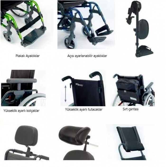 Breezy Style Alüminyum Manuel Tekerlekli Sandalye (12 Arka Tekerlekler)